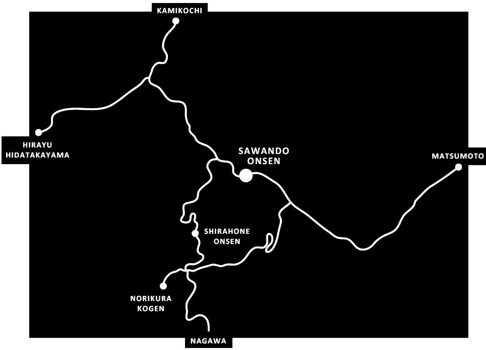 """""""北アルプスの山 観光の表関口"""" さわんど温泉で、のんびりと旅の計画を立ててみませんか。 SAWANDO ONSEN STORY"""